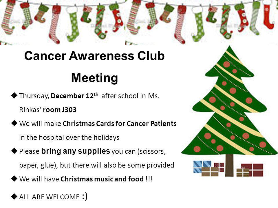 Cancer Awareness Club Meeting