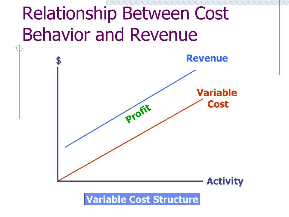 Relationship Between Cost Behavior and Revenue