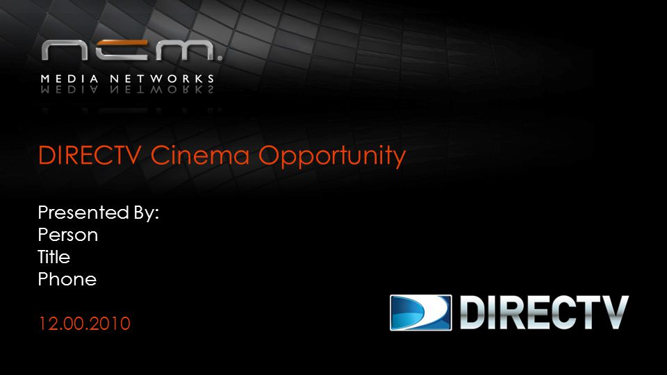 DIRECTV Cinema Opportunity