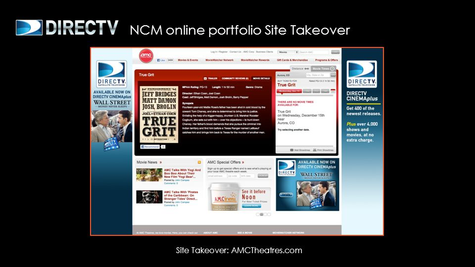 Site Takeover: AMCTheatres.com