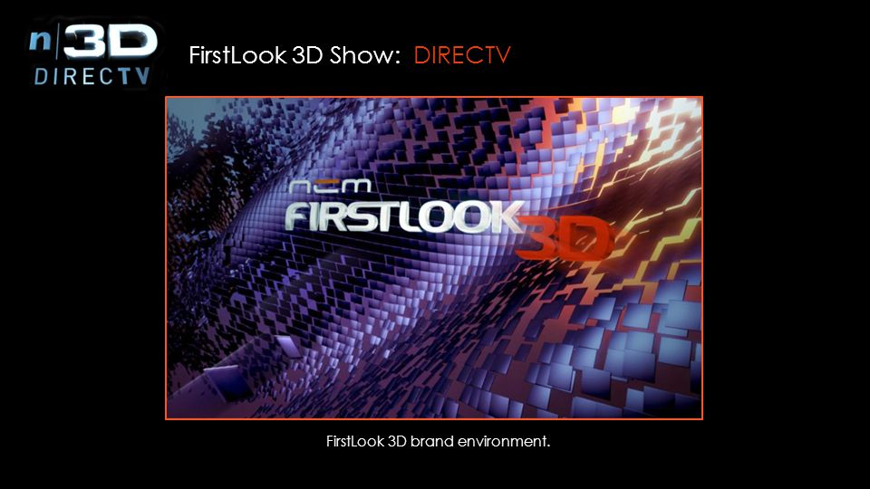 FirstLook 3D brand environment.