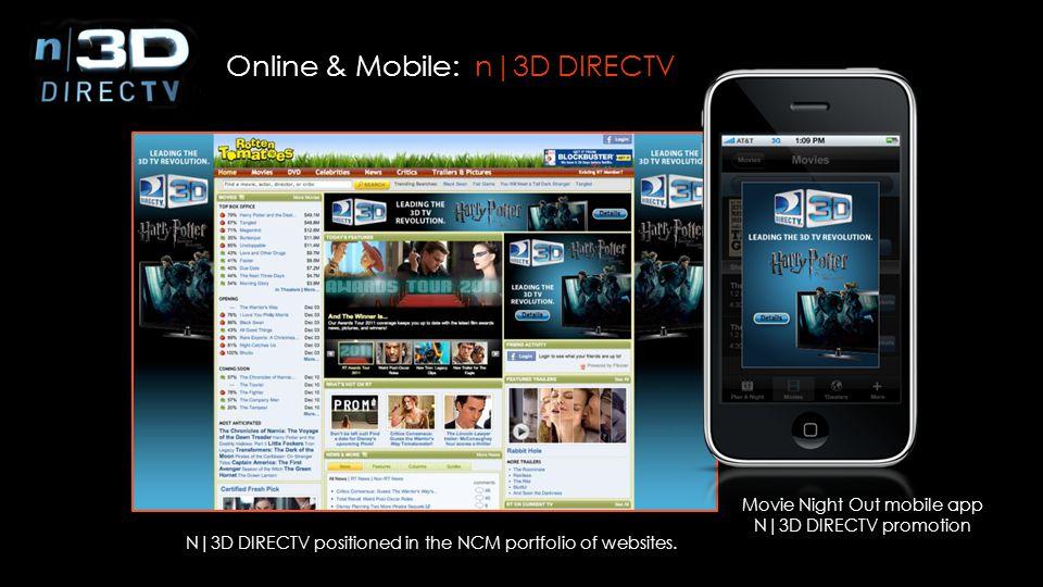 Online & Mobile: n|3D DIRECTV