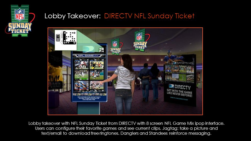 Lobby Takeover: DIRECTV NFL Sunday Ticket