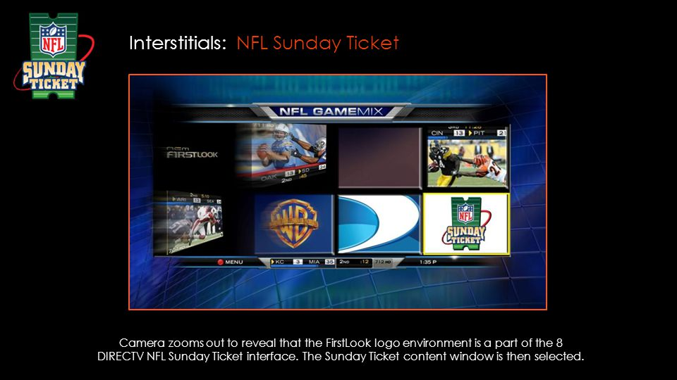 Interstitials: NFL Sunday Ticket