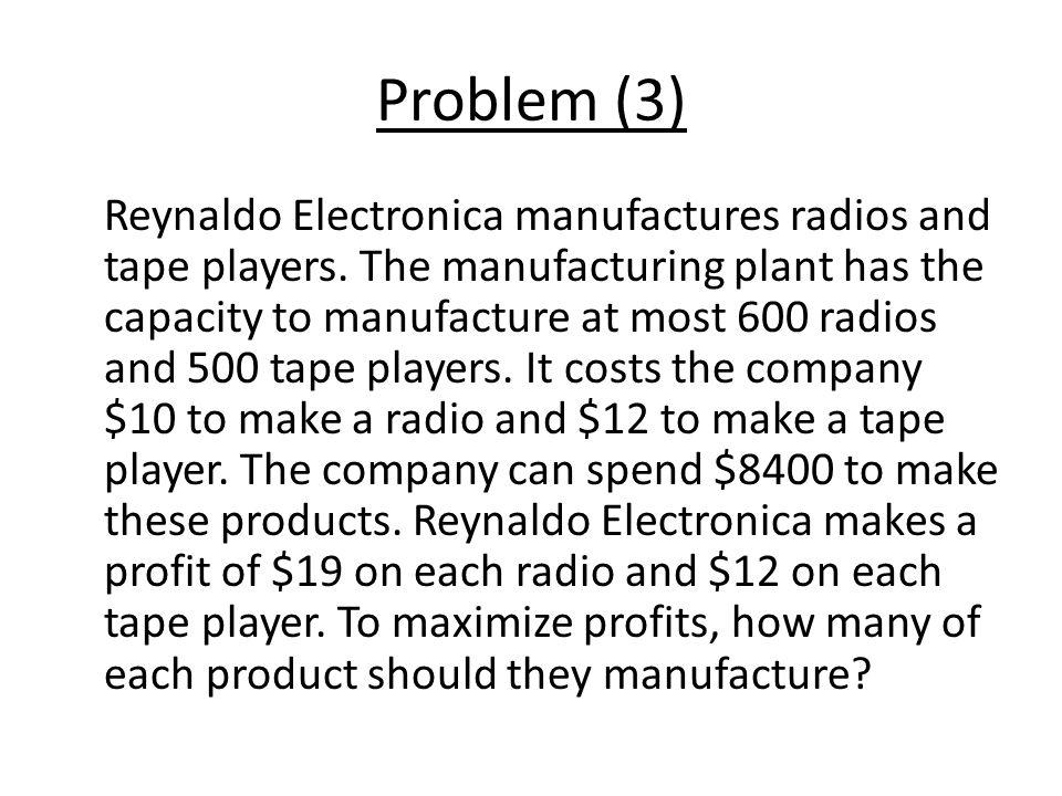 Problem (3)