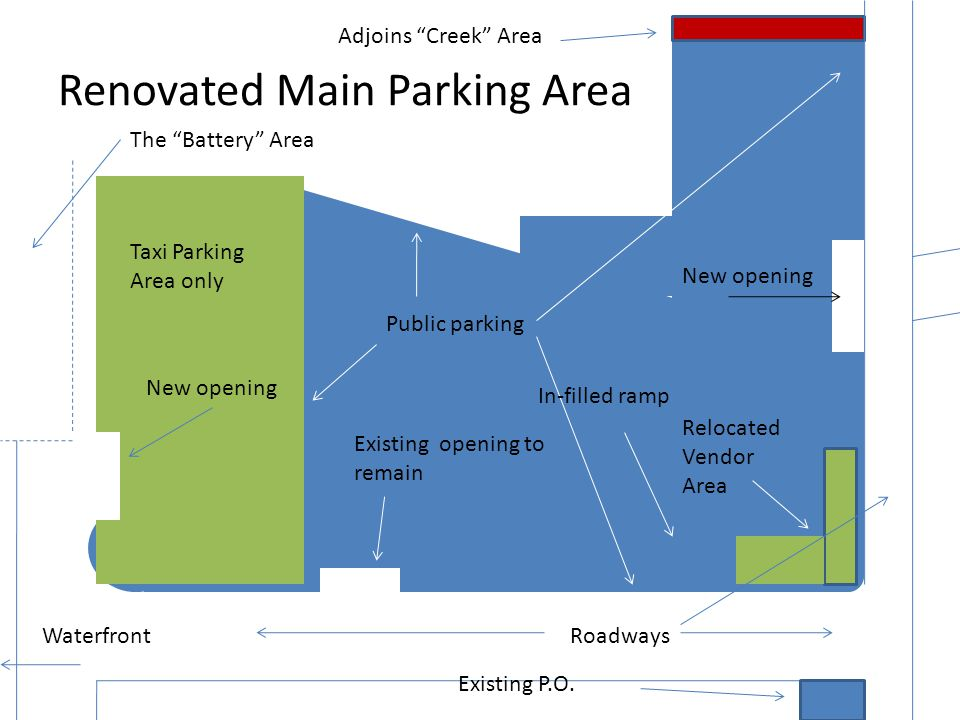 Renovated Main Parking Area