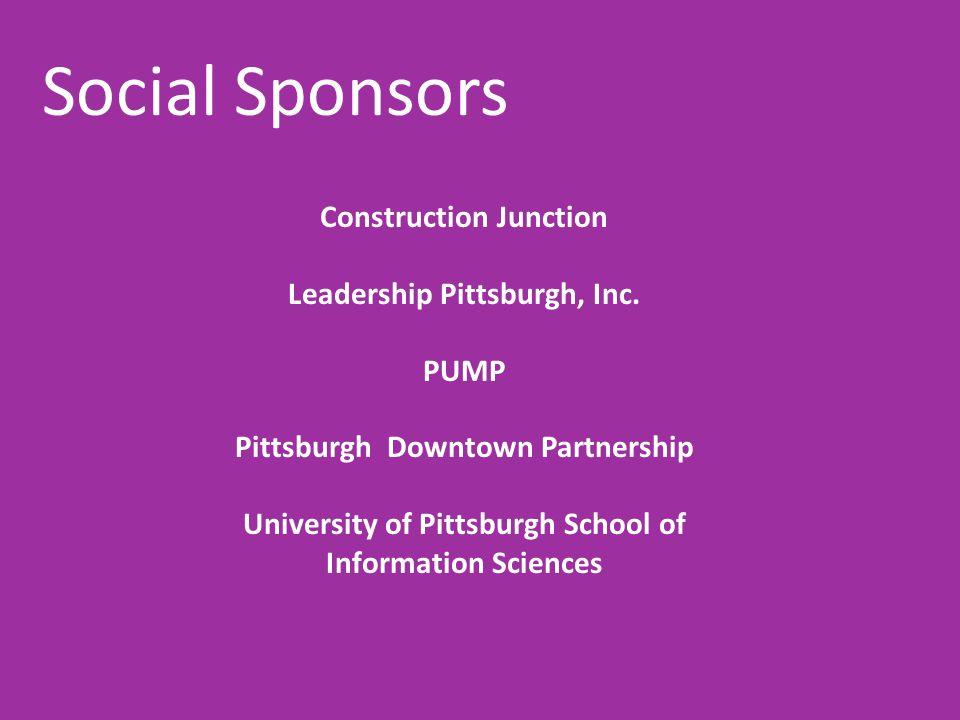 Social Sponsors Construction Junction Leadership Pittsburgh, Inc. PUMP