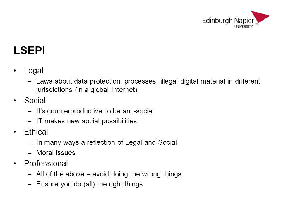 LSEPI Legal Social Ethical Professional