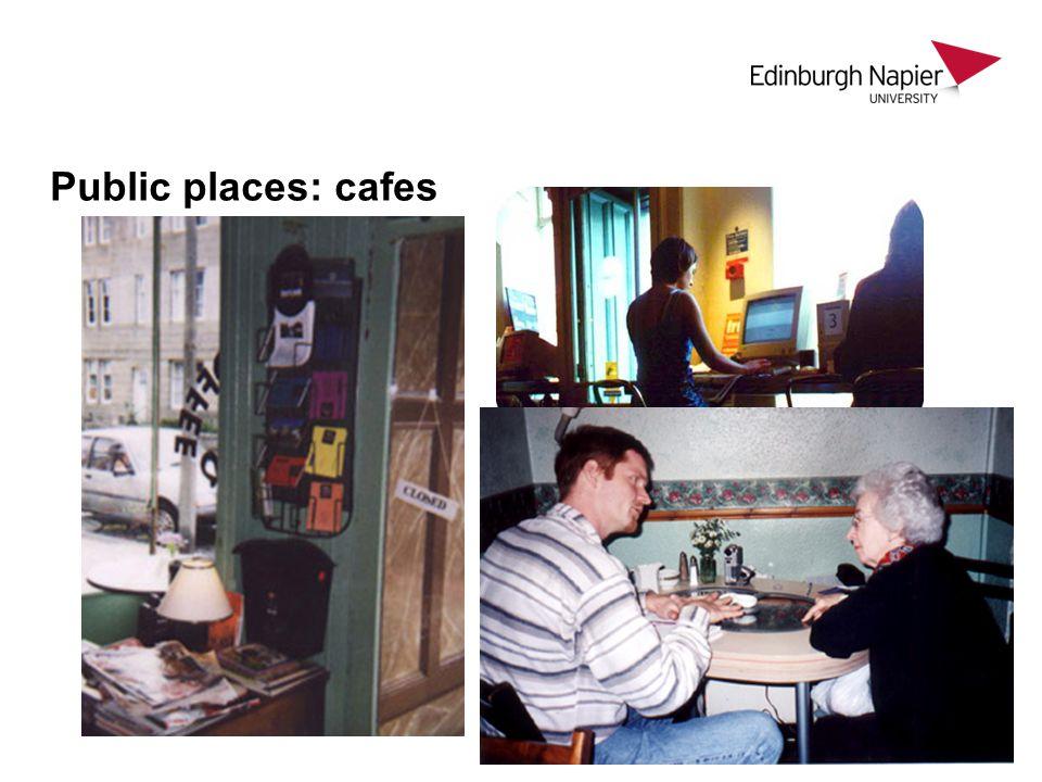 Public places: cafes