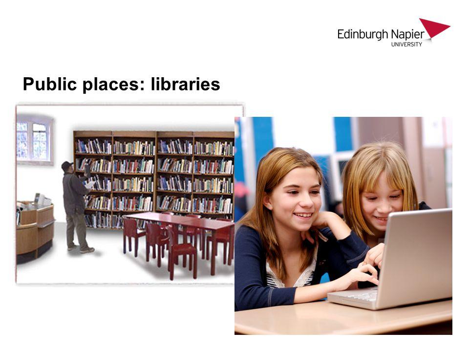 Public places: libraries