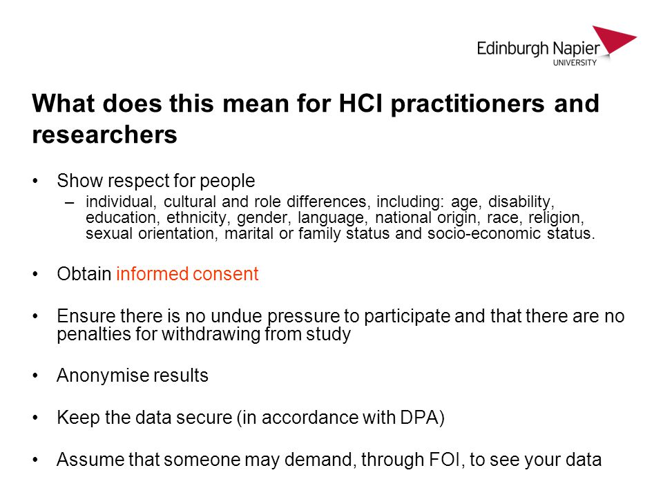 What does this mean for HCI practitioners and researchers