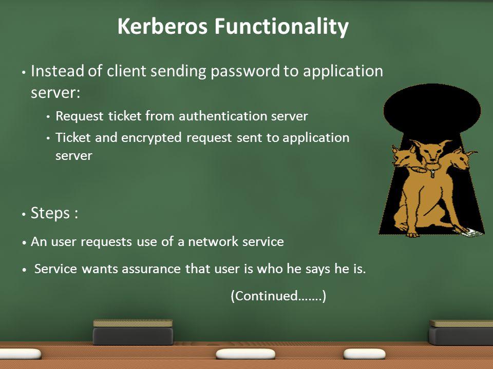 Kerberos Functionality