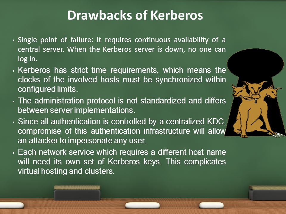 Drawbacks of Kerberos