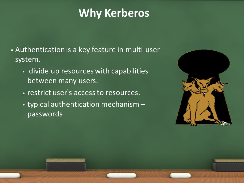 Why Kerberos Authentication is a key feature in multi-user system.