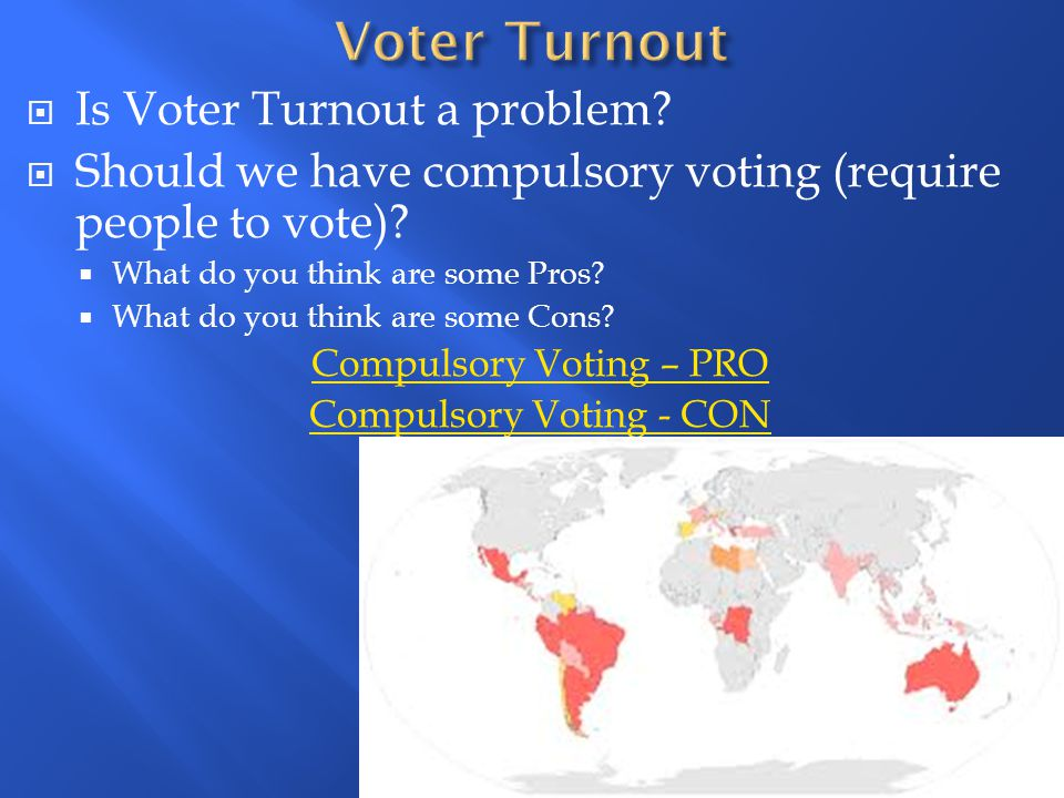 Voter Turnout Is Voter Turnout a problem