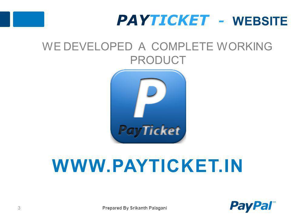 www.PayTicket.in PayTicket - Website We Developed a complete WORKING