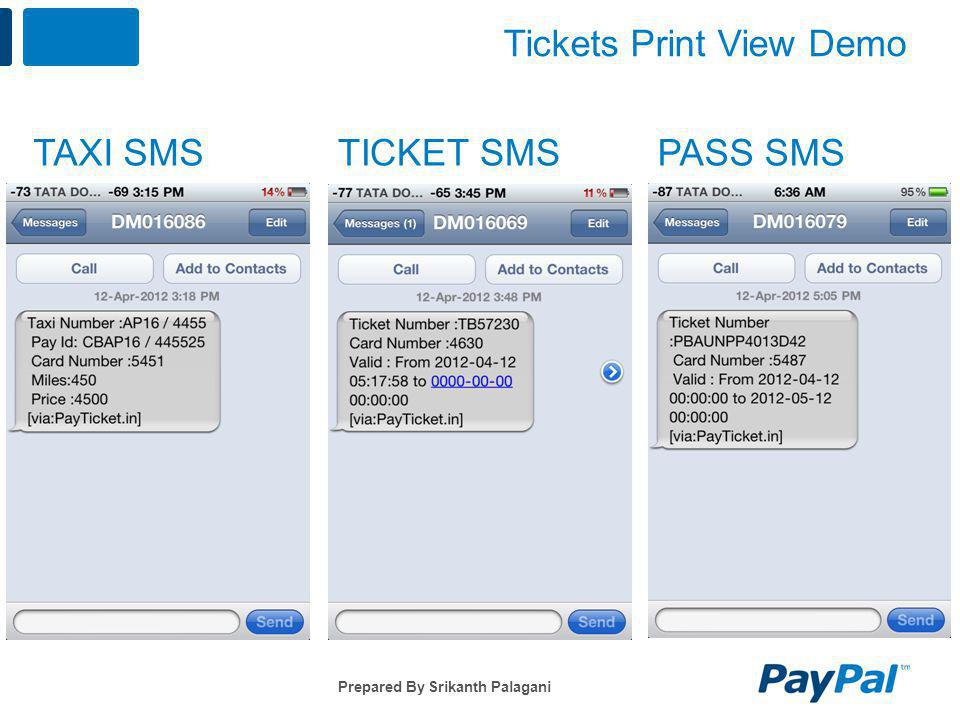 Tickets Print View Demo
