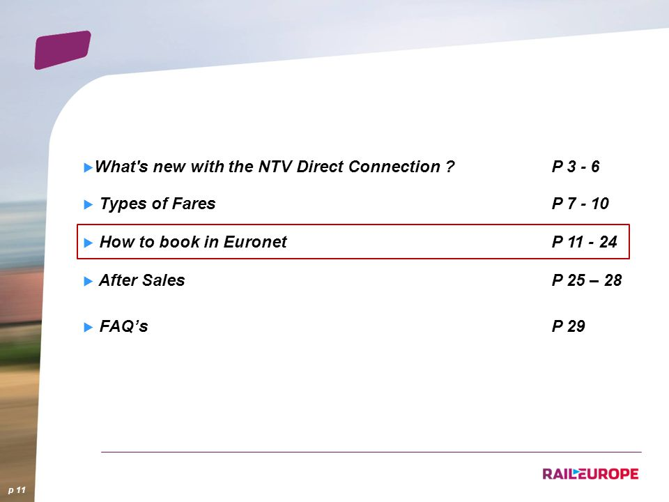 What s new with the NTV Direct Connection P 3 - 6