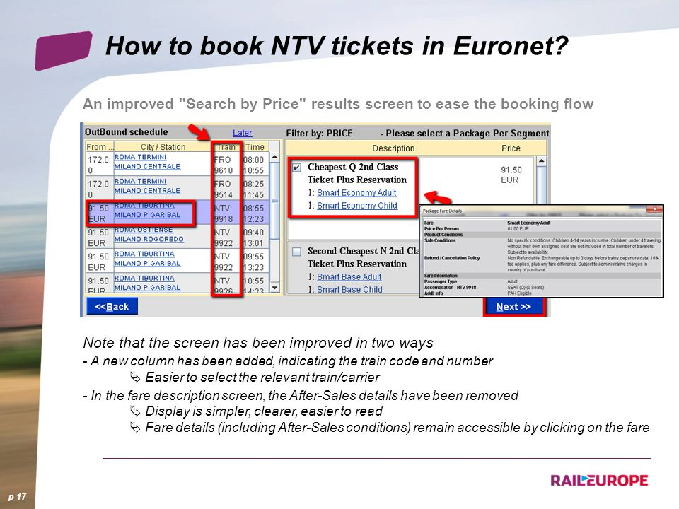 How to book NTV tickets in Euronet