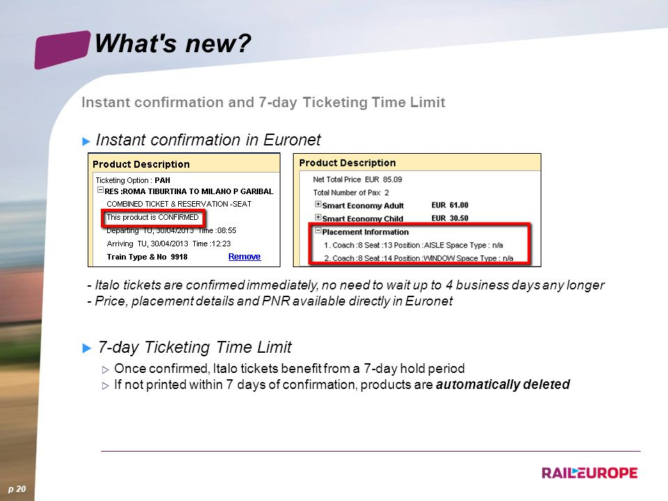 What s new 7-day Ticketing Time Limit