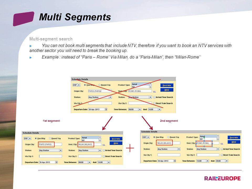Multi Segments Multi-segment search