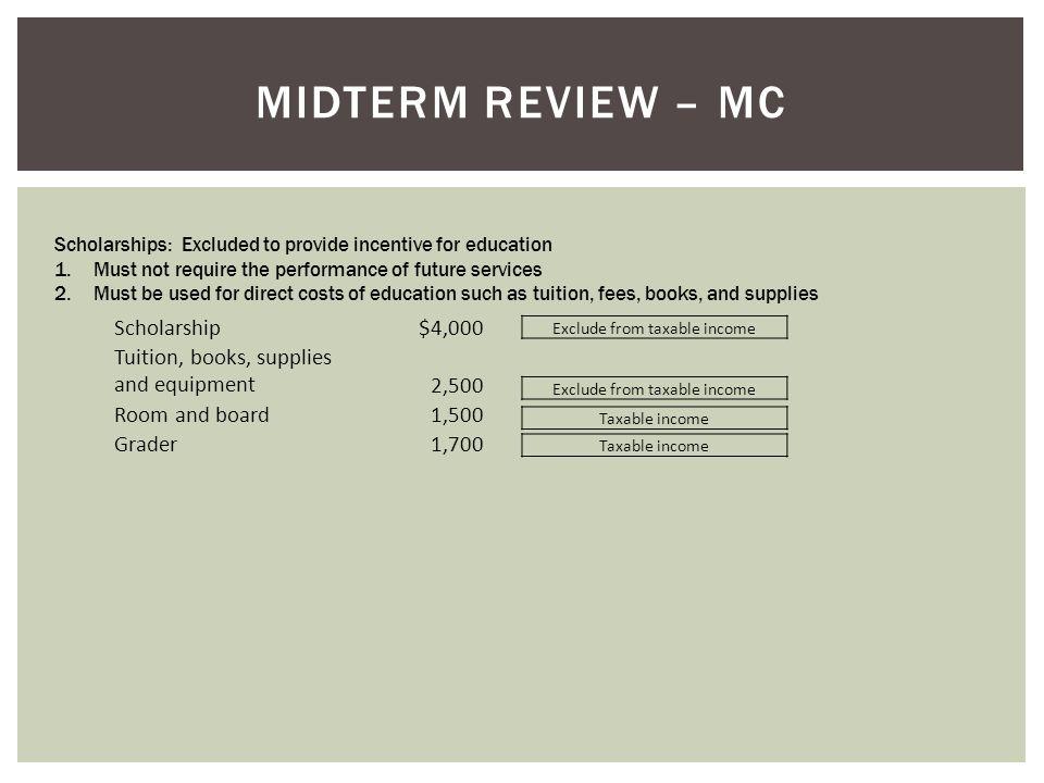 Midterm Review – MC Scholarship $4,000