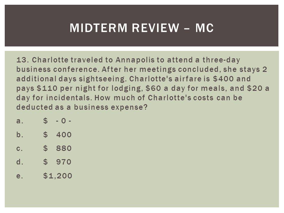 Midterm Review – MC