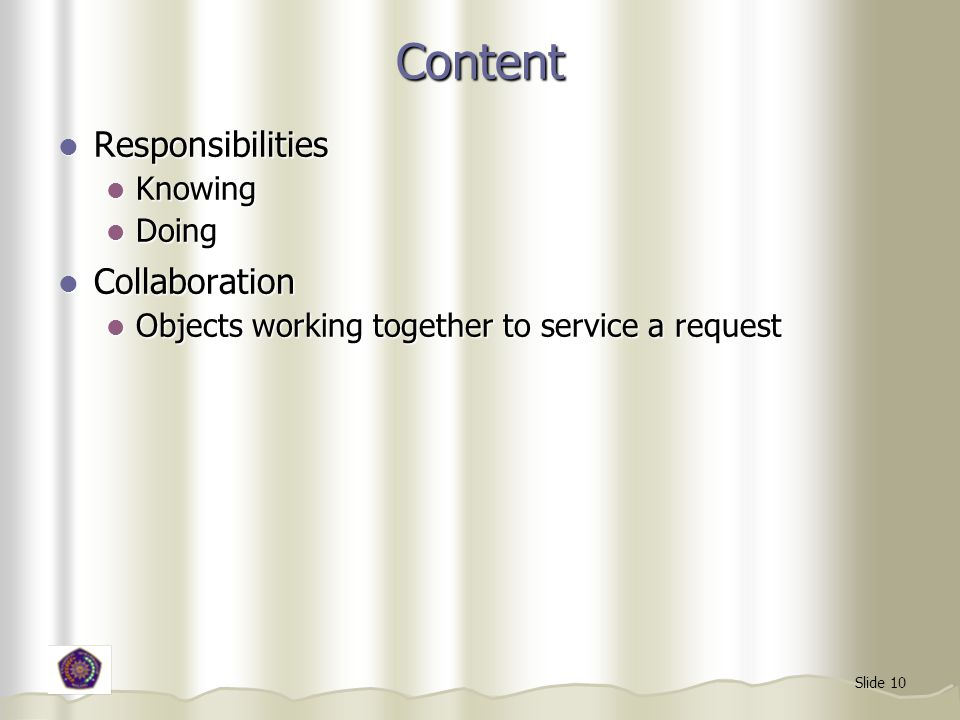 Content Responsibilities Collaboration Knowing Doing