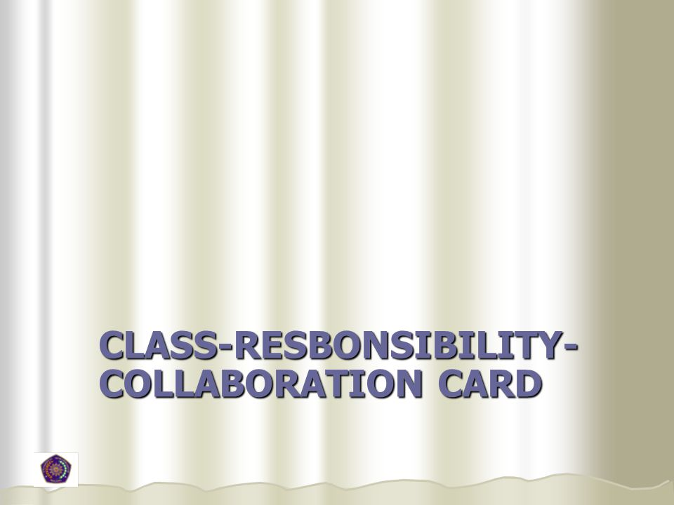 class-resbonsibility-collaboration card