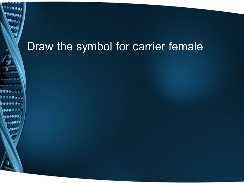 Draw the symbol for carrier female