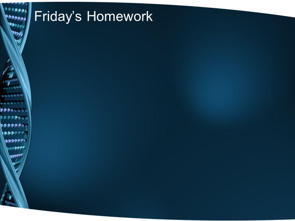 Friday's Homework
