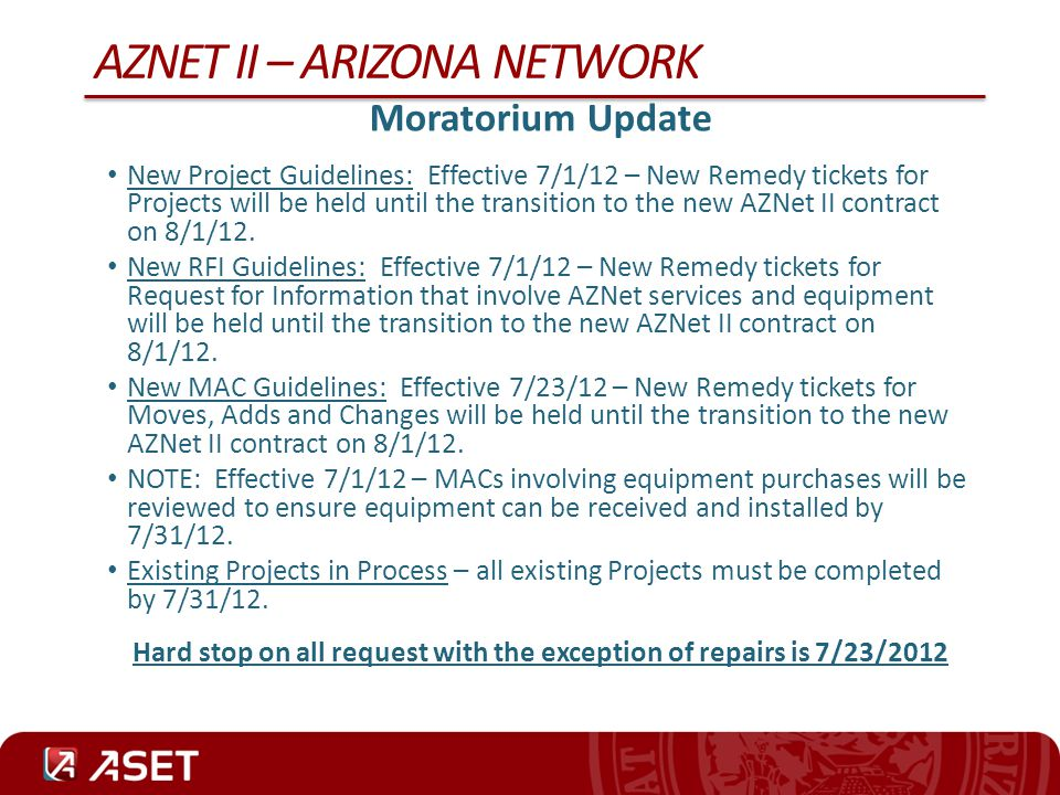 AZNet II – Arizona Network
