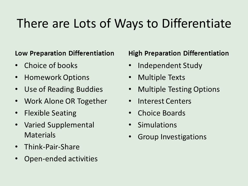 There are Lots of Ways to Differentiate