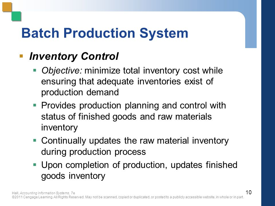 Batch Production System
