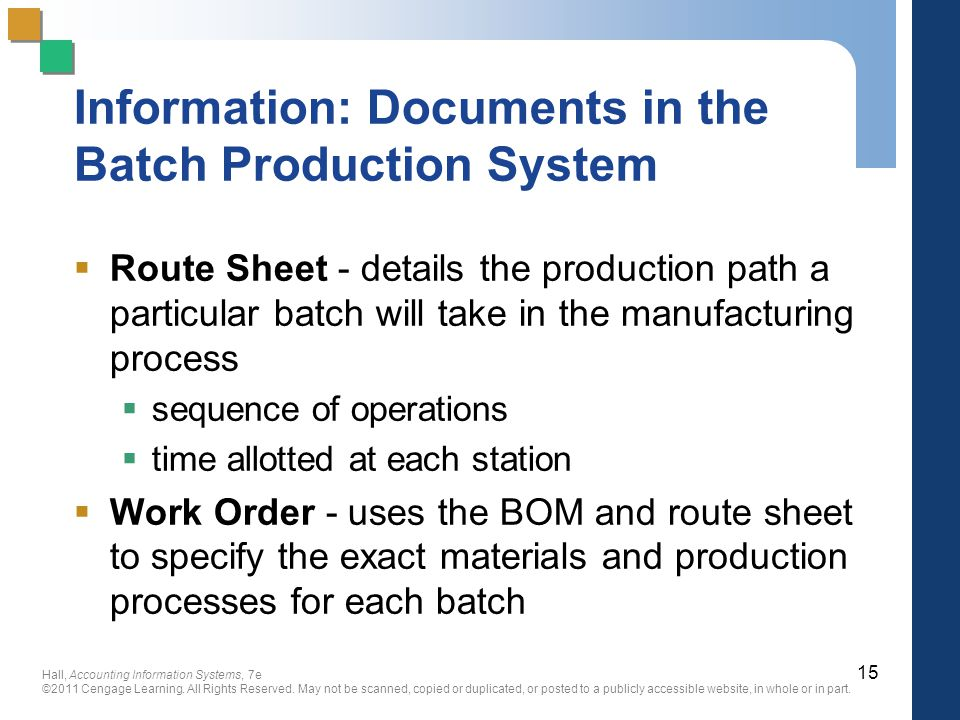 Operation and route sheet in manufacturing
