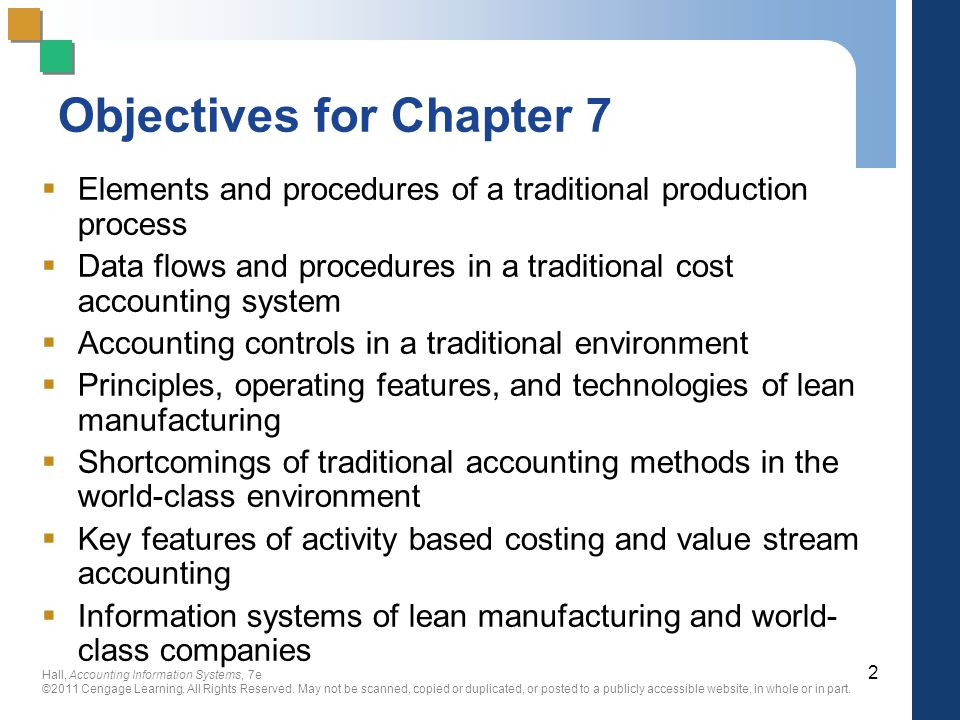Objectives for Chapter 7