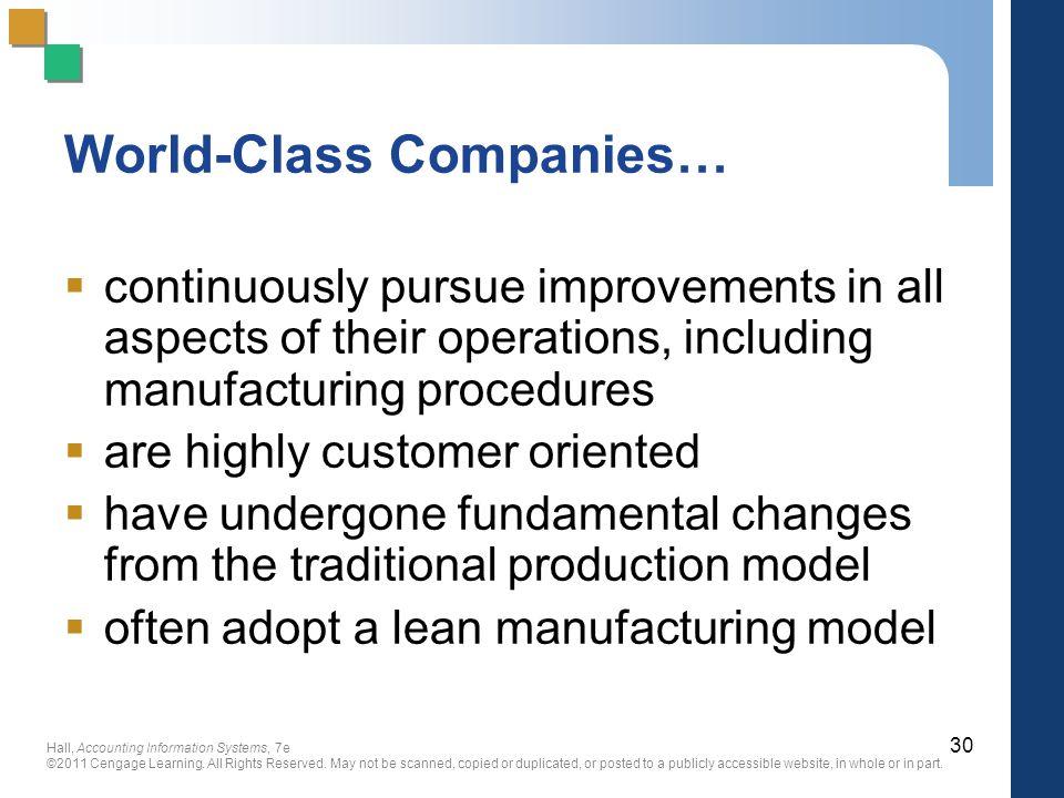 World-Class Companies…