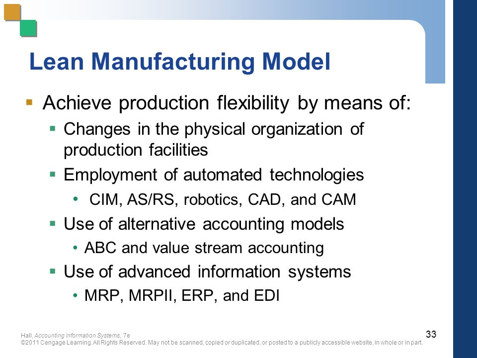 Lean Manufacturing Model