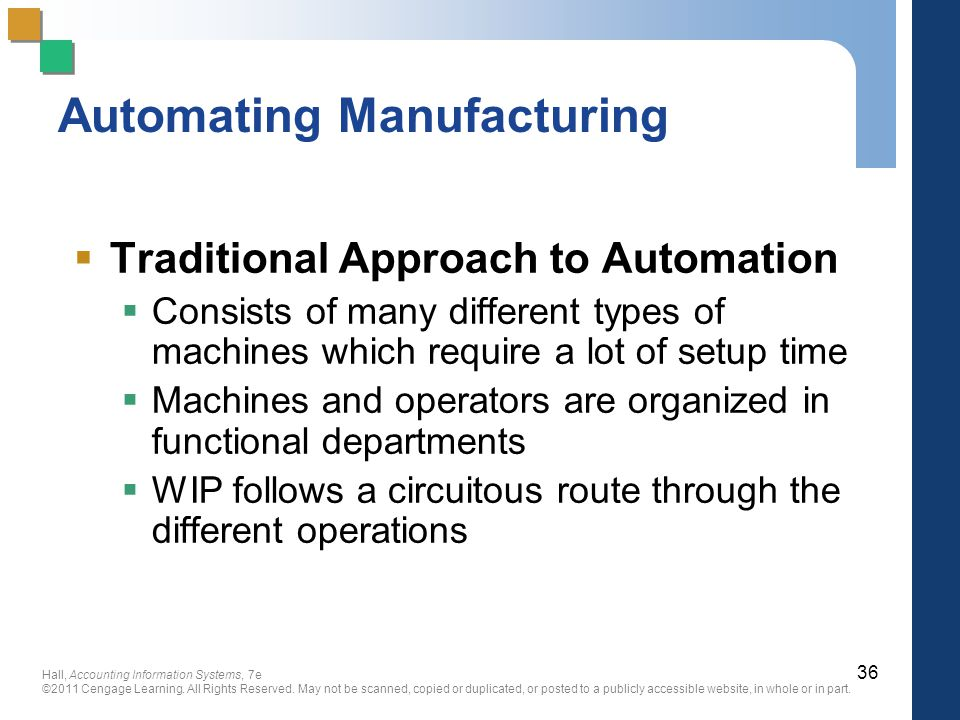 Automating Manufacturing