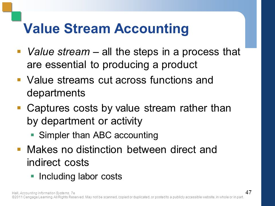 Value Stream Accounting