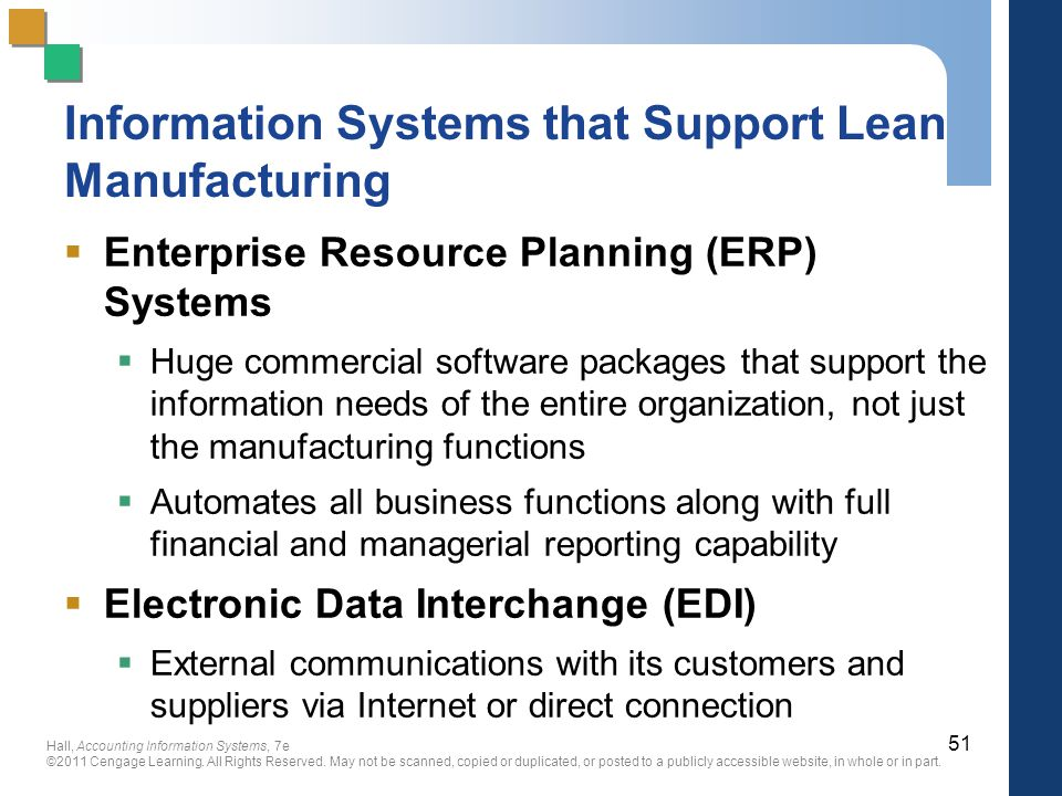 Information Systems that Support Lean Manufacturing
