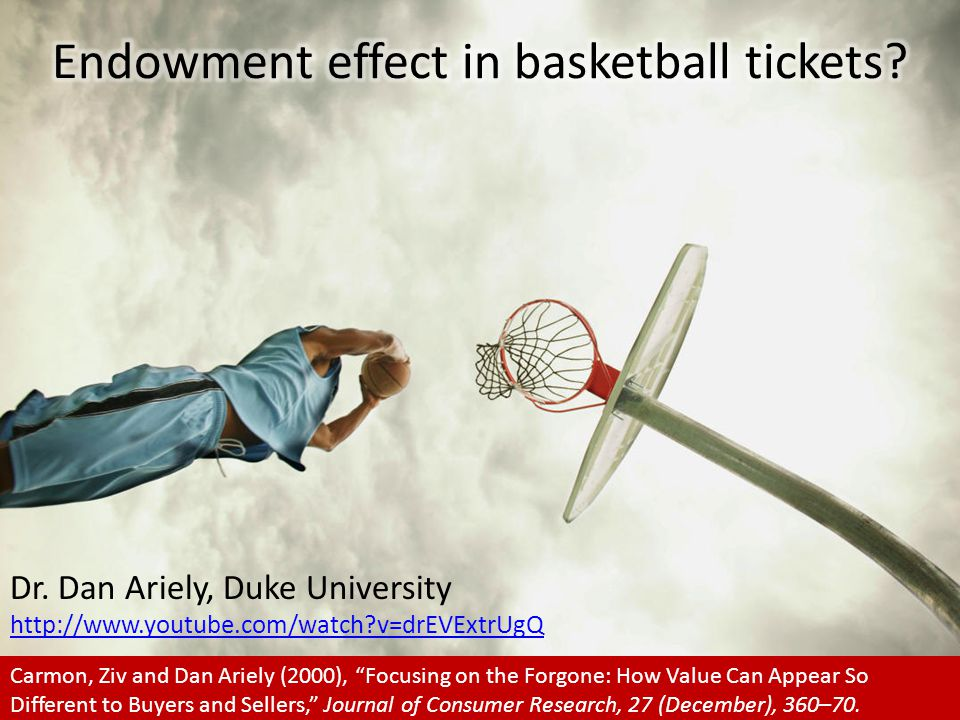 Endowment effect in basketball tickets
