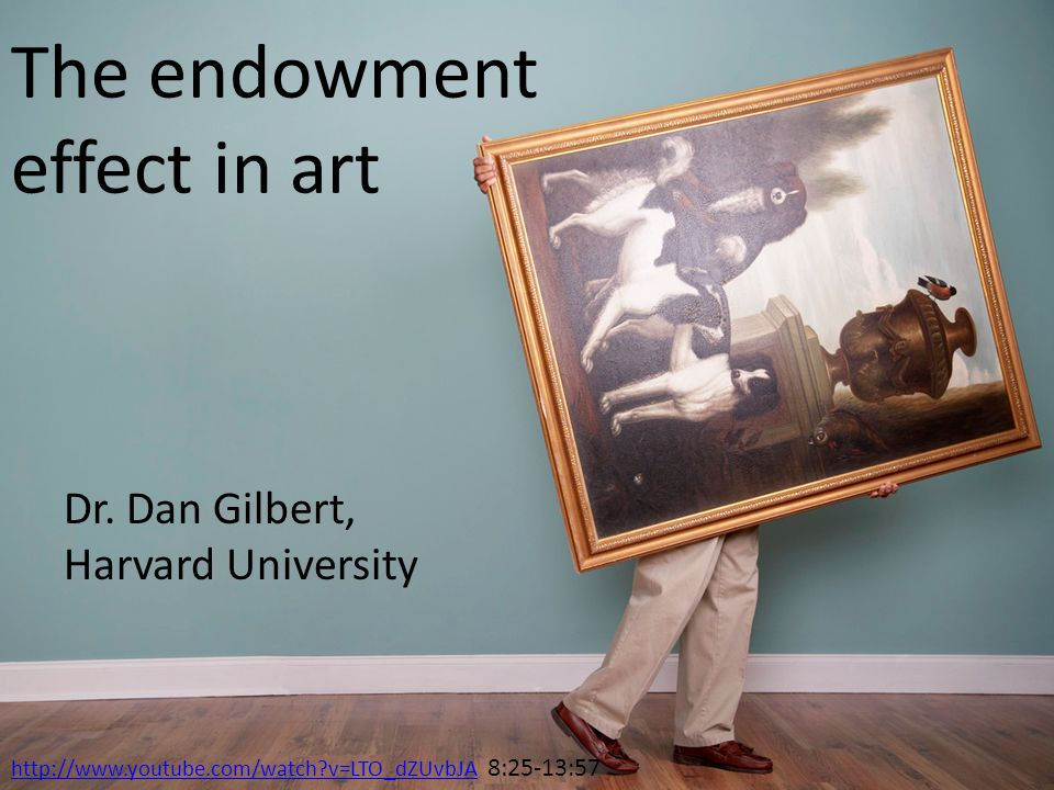 The endowment effect in art