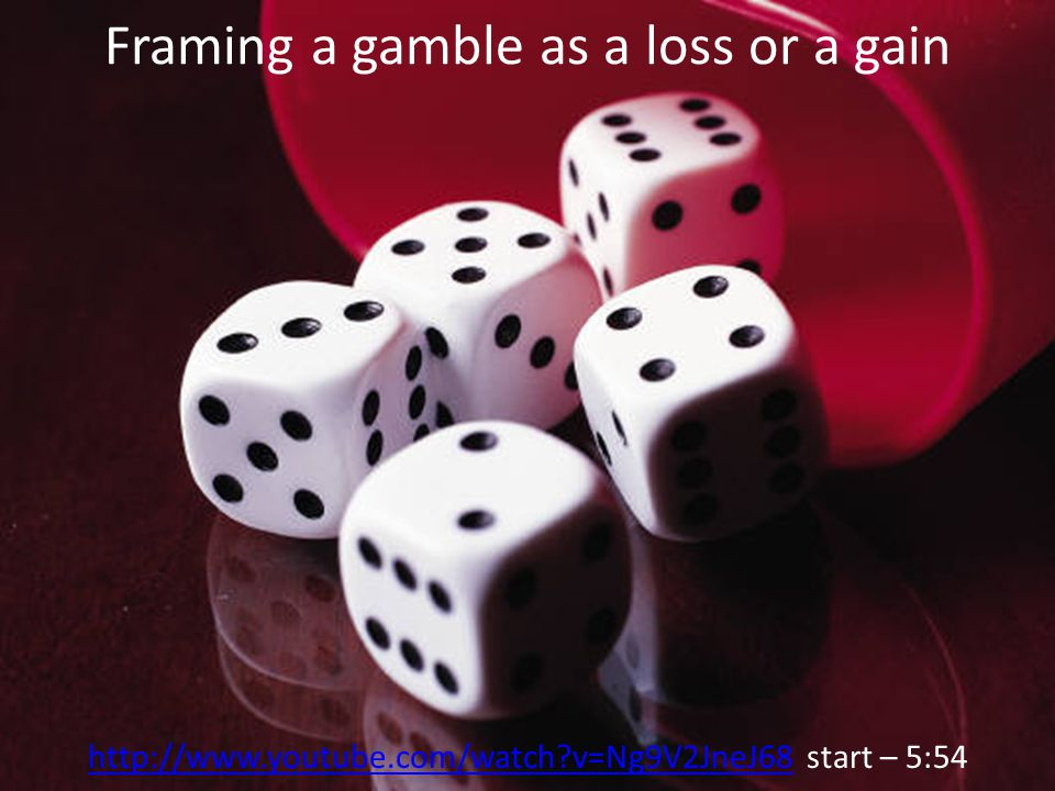 Framing a gamble as a loss or a gain