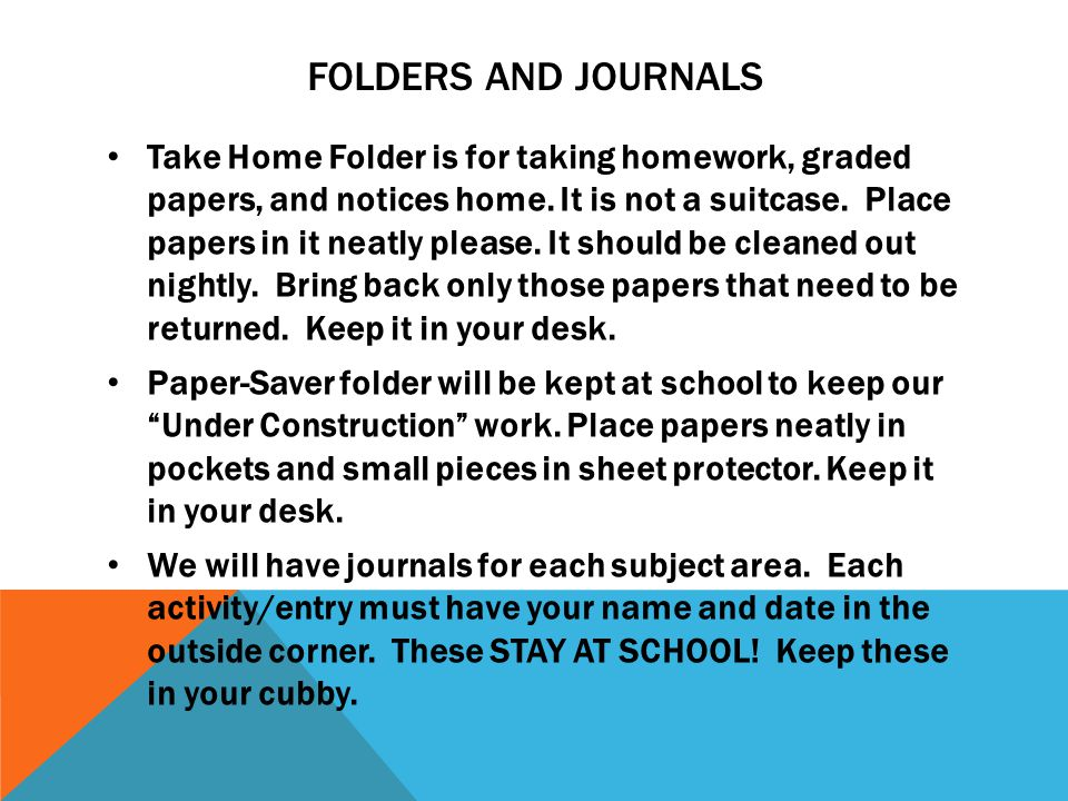 Folders and Journals