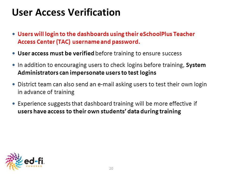 User Access Verification