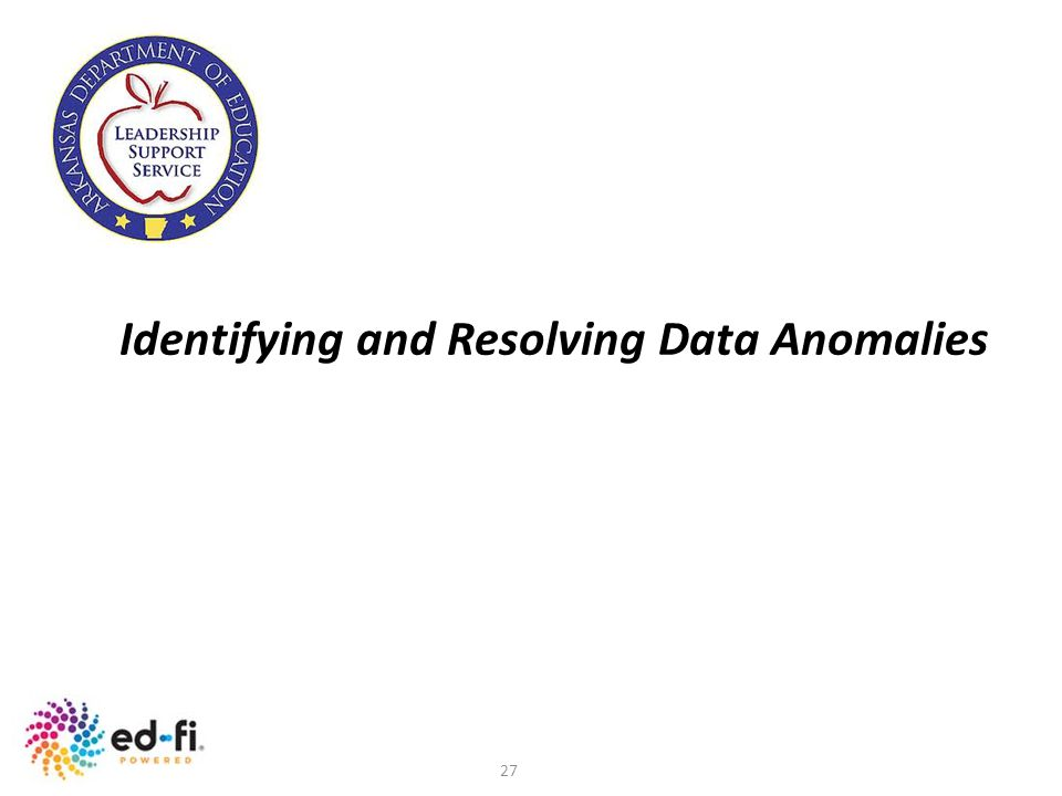 Identifying and Resolving Data Anomalies