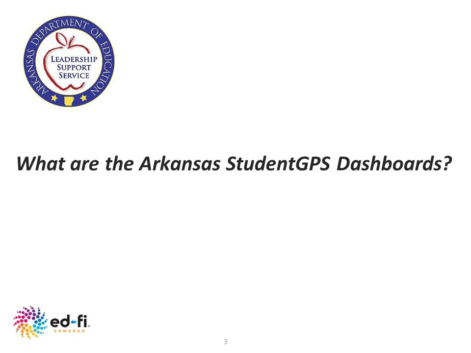 What are the Arkansas StudentGPS Dashboards