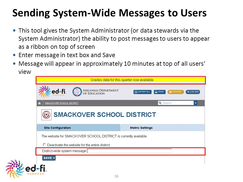 Sending System-Wide Messages to Users
