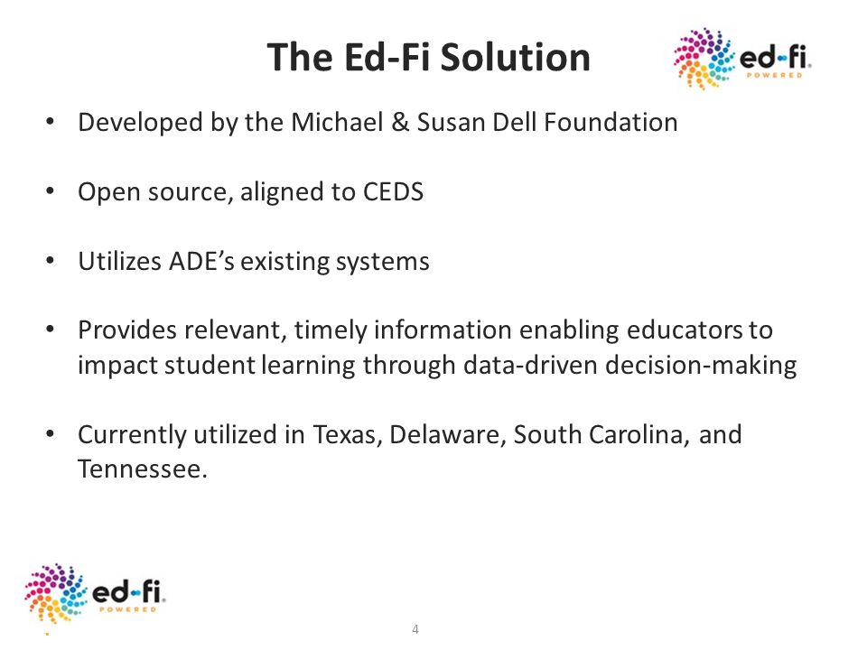 The Ed-Fi Solution Developed by the Michael & Susan Dell Foundation